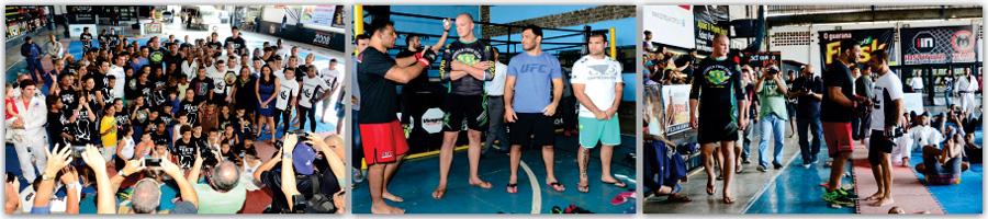 Campeões da UFC levam atletas do Faixa Preta de Jesus ao delírio