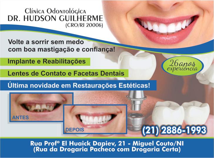 Dr. Hudson Guilherme - Cirurgião Dentista: Dentista em miguel couto, consultório dentário em miguel couto