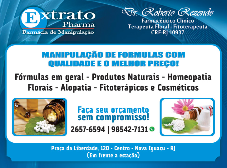 Extrato Pharma nova iguaçu. Farmácia de manipulação em miguel couto