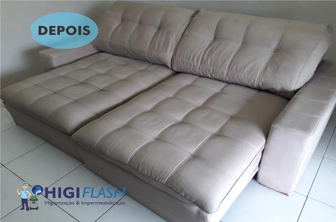 Higiflash. lavagem a seco de sofá em nova iguaçu