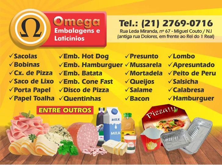 omega embalagens e laticínios. loja de descartáveis em miguel couto, loja de laticínios em miguel couto, artigos para festas em miguel couto